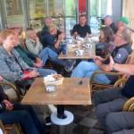 Z gostiteljema v Idriji na kavi